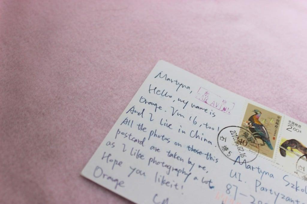 list pocztówka